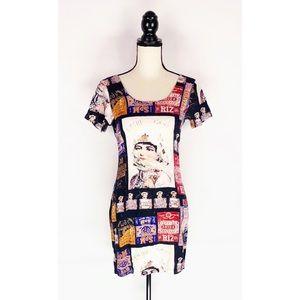 Jams World Dress Mini Graphic Print SZ 9